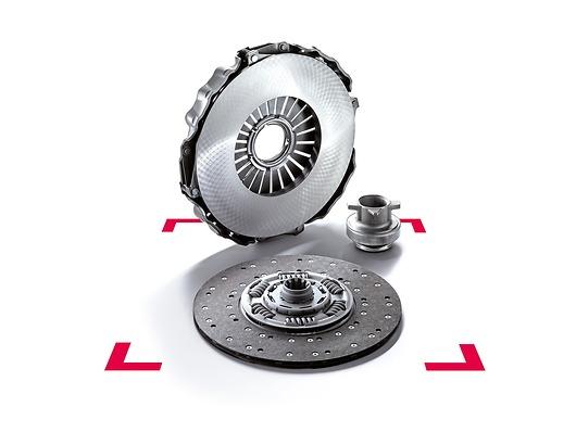 Оригинальный комплект сцепления MAN ecoline сведущим диском сцепления инажимным диском сцепления, подшипником выключения сцепления ипилотным подшипником