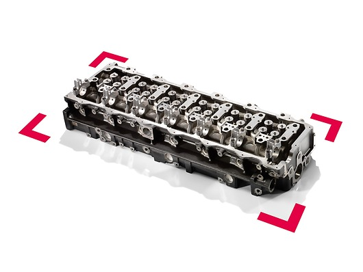 Оригинальный комплект головки цилиндра MAN сголовкой цилиндра, включая предварительно установленные впускные ивыпускные клапаны, пружины клапана икрышки стержня клапана